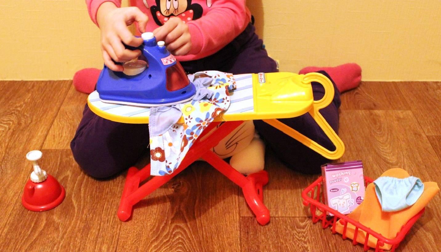 Детская гладильная доска с утюгом купить