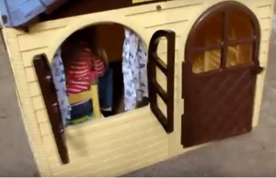 купить детский пластиковый домик Долони