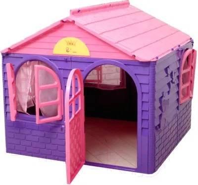 Детская розовая горка для девочки и домик ТМ Долони