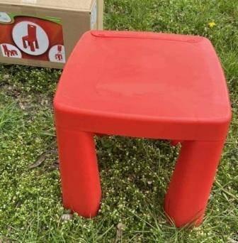 купить красный стул и стол для ребенка