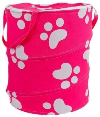 купить корзину для игрушек для девочки розовую