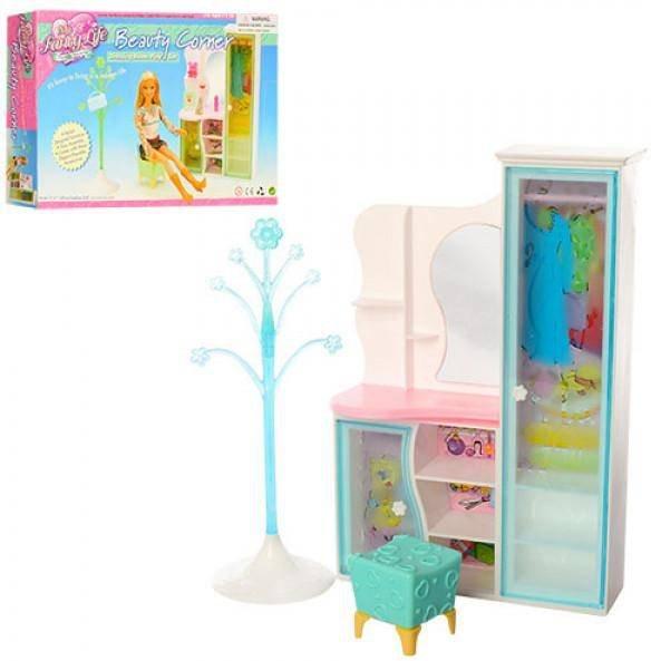 мебель для кукол коллекционная шкаф туалетный столик 2809 Gloria