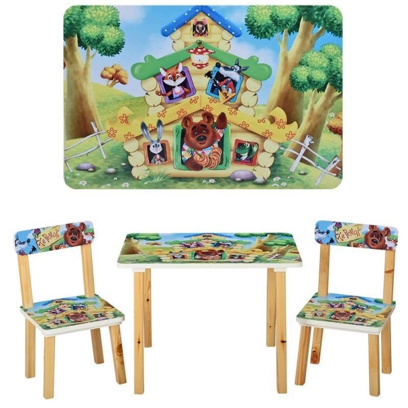 детский стол и 2 стула теремок 501 33 Vivast украина купить в