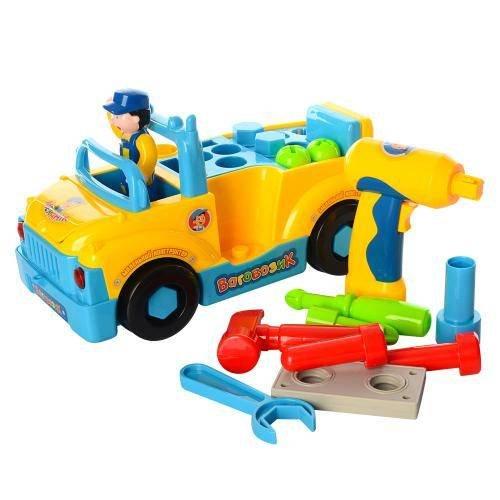 Машинка конструктор с инструментами