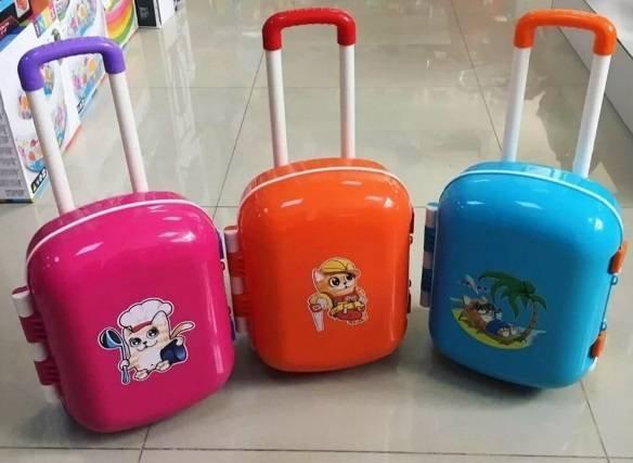 Купить детский чемодан с колесиками и ручкой недорого