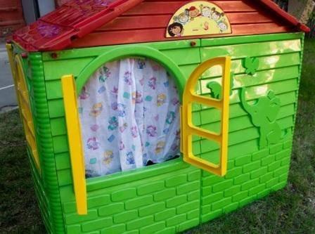 купить домик долони квадратный зеленый для ребенка