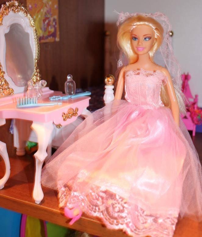 Кукла Барби в розовом свадебном платье 1204 купить в ...