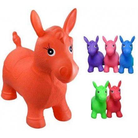 Прыгун  лошадка резиновая 5 цветов MS 0001