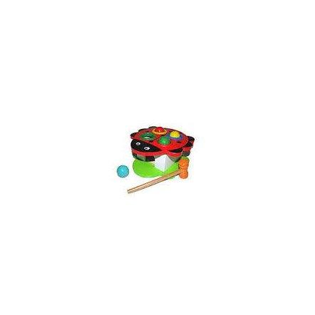 Стучалка-горка деревянная с молоточком 0324