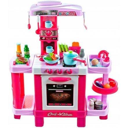 Кухня детская с  посудкой, звуком и светом 008-938 большая