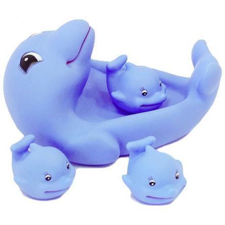 """Пищалки для купания """"Дельфин с малышами"""" 99-155"""