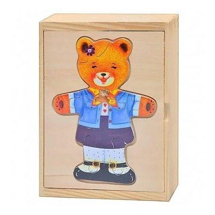 """Рамка-вкладыш деревянная """"Гардероб мишки"""" 0223"""