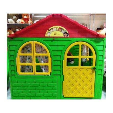 Домик для  детей для улицы средний зеленый Долони-Тойс 02550