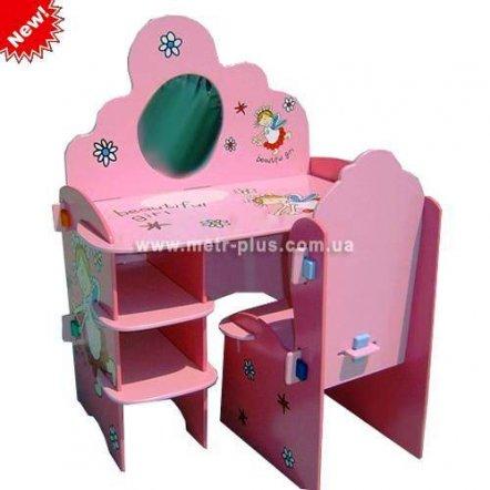 """Парта-трюмо детская """"Принцесса"""" со стульчиком и зеркалом M 0431"""