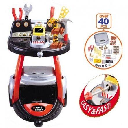 Набор инструментов с тележкой и машинкой-конструктором M 0446 U/R Limo Toy