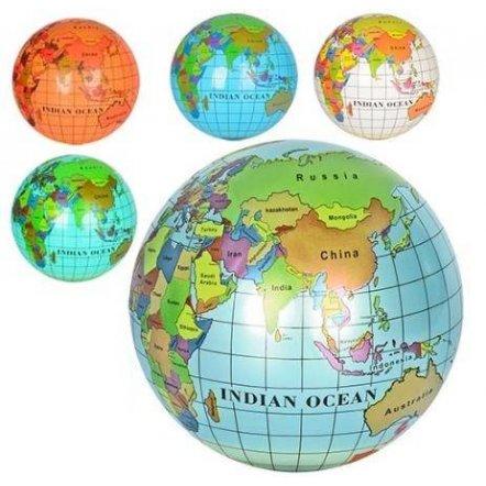 Мяч детский 9 дюймов Глобус MS 0477