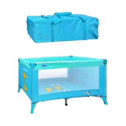"""Манеж-кровать M 0526 детский голубой в сумке на змейке """"Bambi"""""""