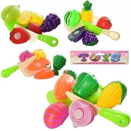 Продукты на липучке овощи или фрукты с досточкой и ножом CY-055-6-7-8