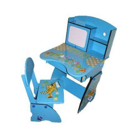 "Парта трансформер растишка ""Тигренок"" с шкафчиком W 055 Bambi голубая"