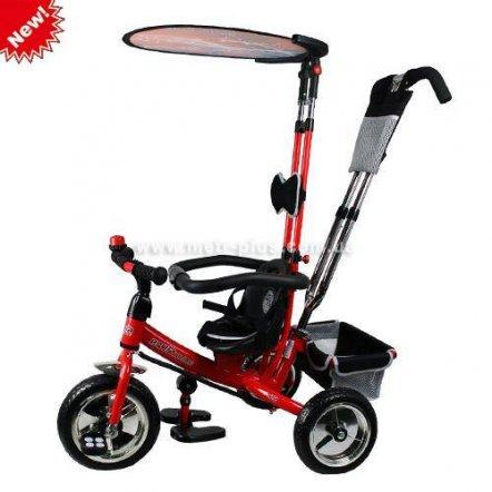Велосипед трехколесный с ручкой 0594 красный Profi Trike
