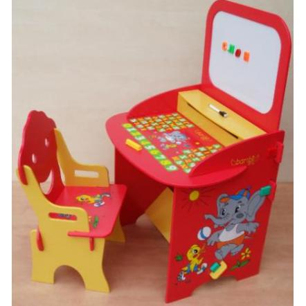 Парта детская с мольбертом и стульчиком W 059 Bambi