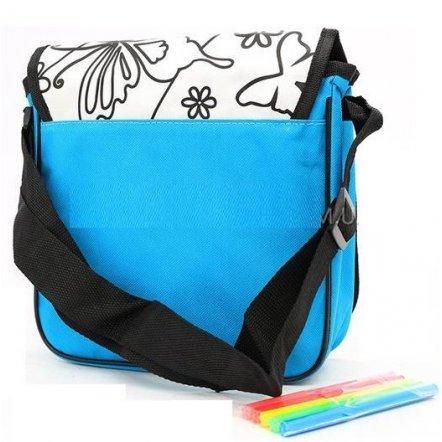 Раскраска сумка для девочек с фломастерами на длинной ручке 0639