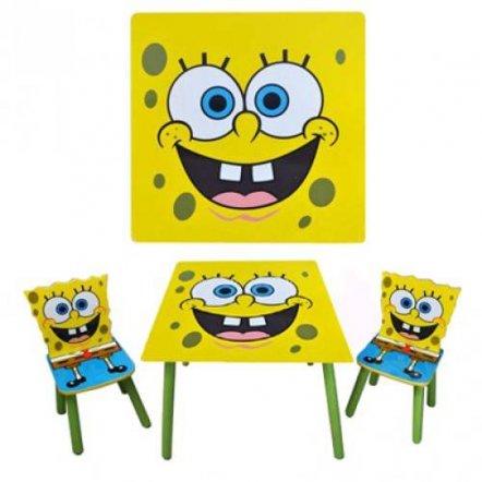 """Детский столик и два стульчика """"Губка Боб"""" 06449 квадратный"""