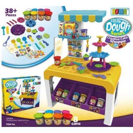 Кухня детская с пластилином и посудой МК 0678