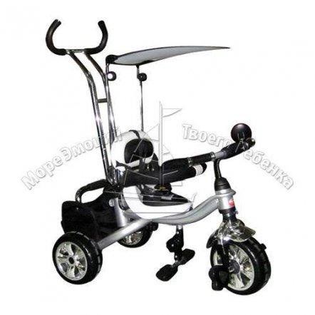 Велосипед трехколесный M 0689 Profi Trike черно-белый