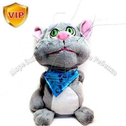 Кот Том мягкий интерактивный - повторюшка с подвижной головой 0718
