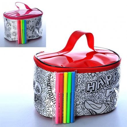 Раскраска сумка креативная Чемоданчик для девочек с фломастерами 0729