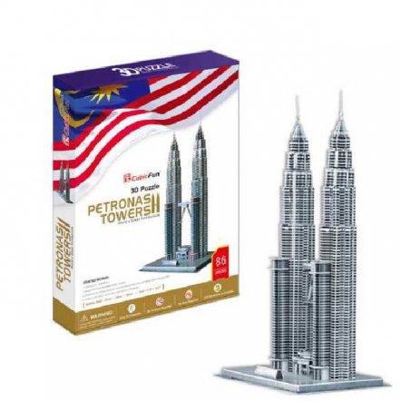 "3D Пазл CubicFun ""Башни Петронас (Малазия) "" MC084H"