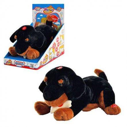 Собака интерактивная лает, скулит, дает лапку MP 0857 черная