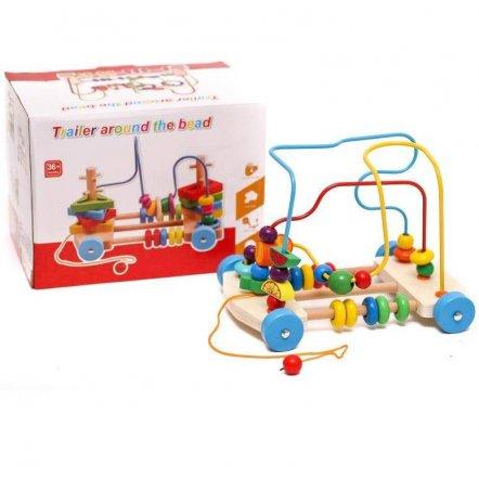 Лабиринт деревянный игрушка со счетами 0906