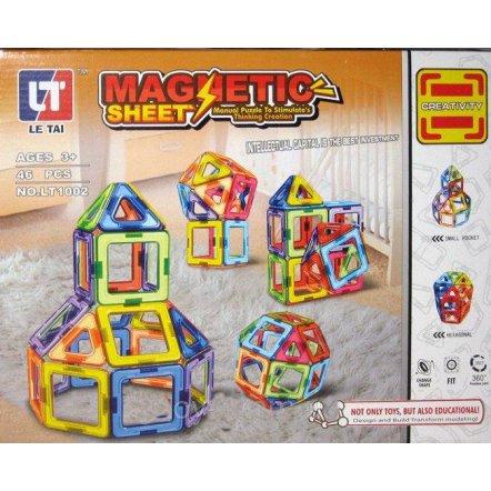 Конструктор магнитный Фигуры 46 деталей LT 1002