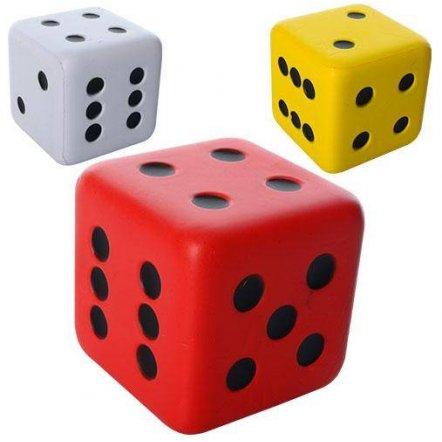 Кубик фомовый большой для настольных игр Кости игральные  9 см MS 1010