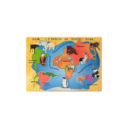 Подарок БЕСПЛАТНО при заказе от 600 гривен Большая деревянная досточка с пазлами 1018