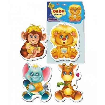 Беби  пазлы Зоопарк VT 1106-10 Vladi Toys