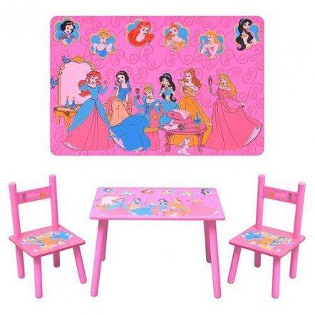 """Детский стол и два стульчика розовые """"Принцессы"""" 1109"""