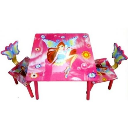 """Детский деревянный стол и два стульчика """"Феи Винкс (Winx)"""" 11551 БОЛЬШОЙ Акция!!"""