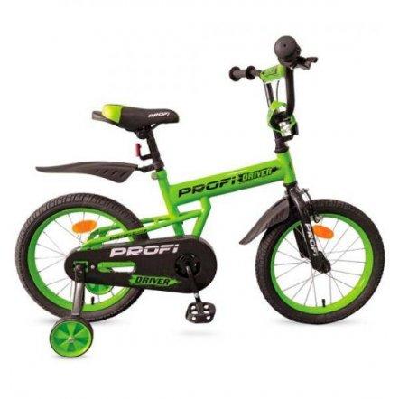 Велосипед детский Driver 12д. салатовый с дополнительными колесами L12113 PROF1