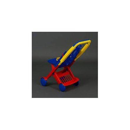 Коляска кукольная пластиковая Мальвина 1219 Технок