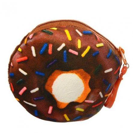 Кошелек-брелок Пончик шоколадный плюшевый X12274