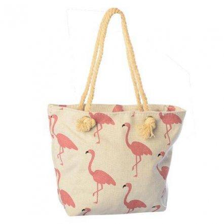 Сумочка пляжная стильная Фламинго X 12996