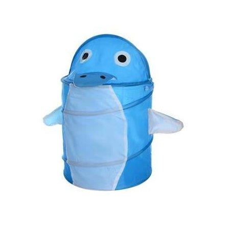Корзина для игрушек  голубая 0282