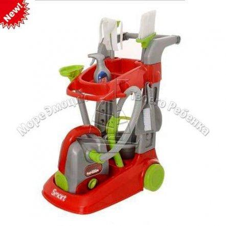 """Набор для уборки игрушечный музыкальный """"Smart"""" с тележкой и пылесосом 1680612 HTI, Великобритания"""