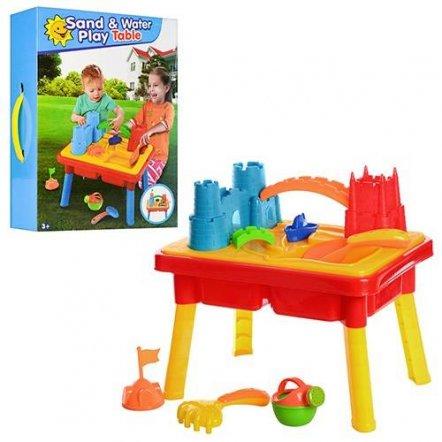 """Песочница-столик из 20 предметов """"Городок с мельницей"""" M 0833"""
