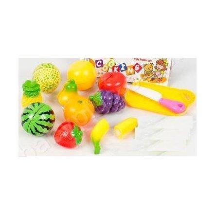Разрезные овощи и фрукты на липучках 201 на планшете 2 вида
