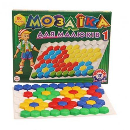 Мозаика для малышей №1 80 элементов 2063 Технок, Украина