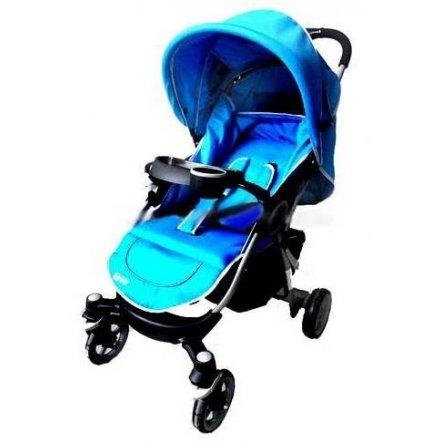 Коляска детская SQUALLO C 208-15  прогулочная голубая